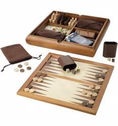 Set jocuri 6 in 1 lux lemn Jocuri de Societate