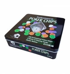 Set Poker profesional 100 jetoane Jocuri de Societate