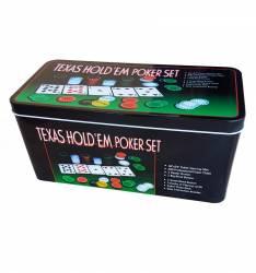 Set Poker profesional Texas 200 jetoane Jocuri de Societate