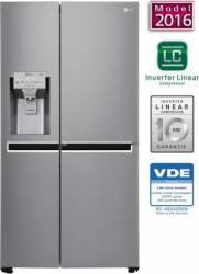 Side by side LG GSJ960PZBZ 601 L Clasa A++ Dispencer Apa - Gheata Full NoFrost Inox