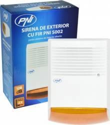 Sirena de exterior cu fir PNI S002 pentru sisteme de detectie efractie Accesorii alarme