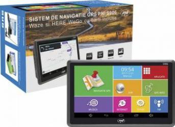 Sistem de navigatie GPS + DVR PNI S906 ecran 7 inch cu Android 6.0 harti Here Maps si Waze cu radarele din Romania Navigatie GPS