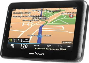 Navigatie GPS Serioux Urban Pilot 4.3 inch + Harta Europei + Update pe viata Navigatie GPS