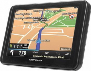 Navigatie GPS Serioux Urban Pilot 5 inch + Harta Europei + Update pe viata Navigatie GPS