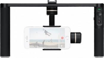 Sistem de Stabilizare Gimbal 3 Axe Feiyu-Tech SPG PLUS pentru Smartphone-uri si Camere de Actiune Black Gimbal, Selfie Stick si lentile telefon