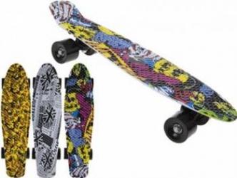 Skateboard copii longboard model Retro Multicolor 57cm lungime 50kg Jucarii de exterior