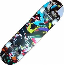 Skateboard Eagle Pro ABEC-7, PU, Aluminiu, 80 cm Graffiti Penny Board