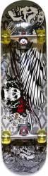 Skateboard Eagle Pro ABEC-7, PU, Aluminiu, 80 cm Skull Penny Board