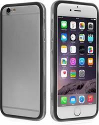 Bumper Transparent PVC iPhone 6-6S Black huse telefoane