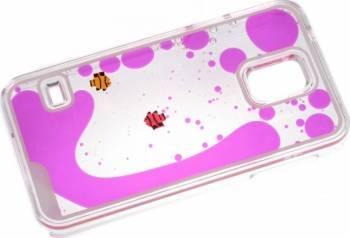 Skin Tellur Glitter Samsung Galaxy S5 G900 Fish Roz Huse Telefoane