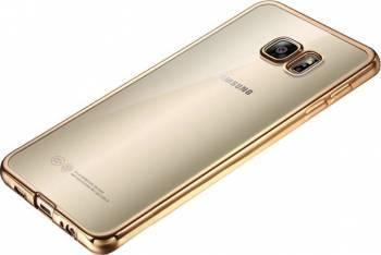 Skin Silicon Electroplating OEM Samsung Galaxy S7 Edge Auriu