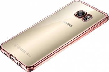 Skin Silicon Electroplating OEM Samsung Galaxy S7 Edge Rose