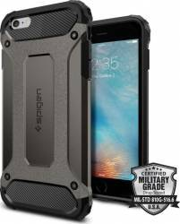 Skin Spigen Tough Armor Tech Apple iPhone 6/6S Plus Metalic Grey Huse Telefoane