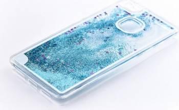 Skin Tellur Huawei P9 Lite cu lichid si sclipici Alb Huse Telefoane