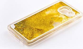 Skin Tellur Samsung Galaxy A3 2016 A310 Sclipici Galben Huse Telefoane