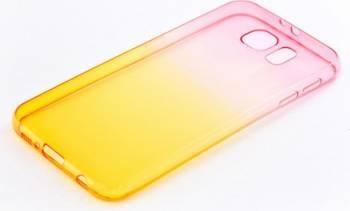 Skin Tellur Samsung Galaxy S6 Roz-Portocaliu Huse Telefoane