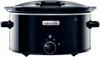 Slow Cooker Crockpot 5.7L 220W Functie pastrare la cald Negru