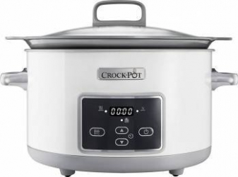 Slow cooker Crock-Pot CSC026X-01 5.0L Digital DuraCeramic Saute Alb Aparate speciale de gatit