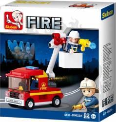 SLUBAN Set de constructie Masina de pompieri Jucarii