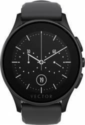 Smart Watch Vector Luna 44mm Negru Mat Curea Silicon Neagra