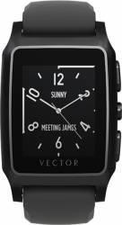 Smart Watch Vector Meridian Negru Mat Curea Silicon Neagra