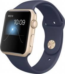 Smartwatch Apple Watch 1 38mm Carcasa Aluminiu Gold si Curea Sport Midnight Blue - MQ102 Smartwatch