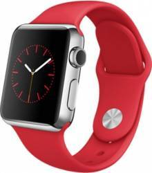 Apple Watch 38mm Carcasa Otel Argintiu Curea Sport Rosie MLLD2