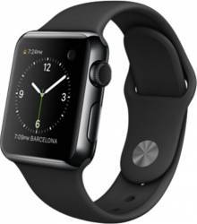 Smartwatch Apple Watch 38mm Carcasa Otel Negru Curea Sport Neagra MLCK2 Smartwatch