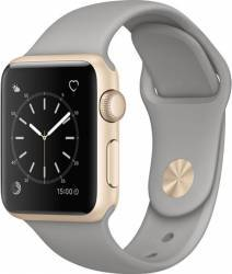 Smartwatch Apple Watch 1 Aluminiu Auriu 38MM Si Curea Sport Gri - MNNJ2 Smartwatch