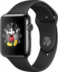 Smartwatch Apple Watch 2 Sport 38mm Aluminiu Negru Curea Silicon Negru - MP0D2 smartwatch