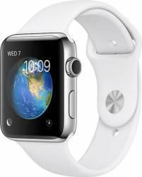 Smartwatch Apple Watch 2 Sport 42mm Aluminiu Argintiu Curea Silicon Alb - MNPJ2 smartwatch