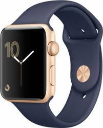 Smartwatch Apple Watch 2 Sport 42mm Aluminiu Auriu Curea Silicon Albastru - MQ152 smartwatch