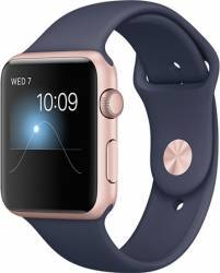 Smartwatch Apple Watch 2 Sport 42mm Aluminiu Roz Curea Silicon Albastru - MNPL2 Smartwatch