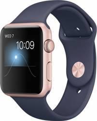 Smartwatch Apple Watch 2 Sport 42mm Aluminiu Roz Curea Silicon Albastru - MNPL2