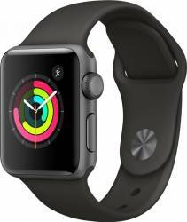Smartwatch Apple Watch 3 GPS 38mm Space Grey Aluminium Case with Grey Sport Band Smartwatch