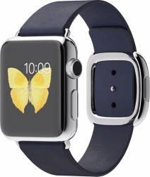 Apple Watch 38mm Carcasa Otel Argintie si Curea Moderna Albastra L - MJ352 Smartwatch