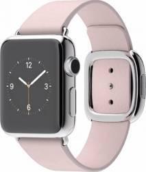 Apple Watch 38mm Carcasa Otel Argintie si Curea Moderna Roz S - MJ362
