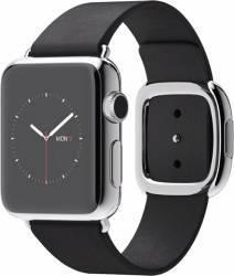 Apple Watch 38mm Carcasa Otel Argintie si Curea Moderna Neagra L - MJYM2