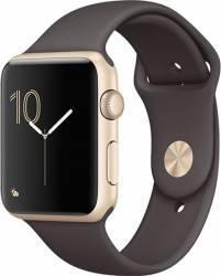 Smartwatch Apple Watch 2 Sport 42mm Aluminiu Auriu Curea Silicon Maro - MNPN2 Smartwatch
