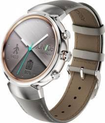 SmartWatch Asus ZenWatch 3 WI503Q Otel Inoxidabil Argintiu Si Curea Piele Bej Smartwatch