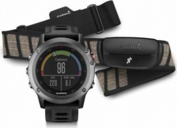 Smartwatch Garmin Fenix 3 GPS Curea Silicon Neagra Performer Bundle  Smartwatch