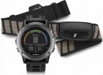 Smartwatch Garmin Fenix 3 GPS Curea Silicon Neagra Performer Bundle smartwatch