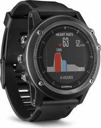 Smartwatch Garmin Fenix 3 Sapphire HR Curea Silicon Negru smartwatch