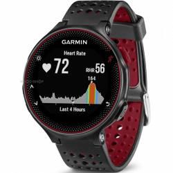 Smartwatch Garmin Forerunner 235 HR Curea Silicon Negru-Rosu Smartwatch