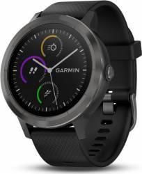 Smartwatch Garmin Vivoactive 3 GPS Slate Curea silicon Neagra Smartwatch