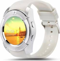 SmartWatch iWearDigital V8 cu SIM - Alb Smartwatch