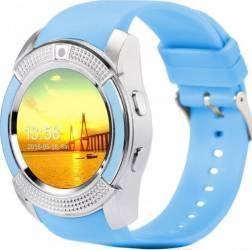 SmartWatch iWearDigital V8 cu SIM - Albastru Smartwatch