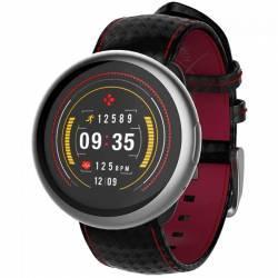 Smartwatch MyKronoz ZeRound 2 HR Premium Argintiu si Curea Carbon Neagra Smartwatch
