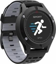 pret preturi SmartWatch NO.1 F5 Ecran 0.95 inch BT 4.2 GPS 21 zile Protectie IP67 Pedometru Somn Presiune Alt Negru