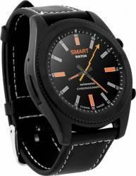 Smartwatch NO1 S9 Bluetooth Curea Piele Black Smartwatch